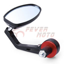 Red Motorcycle Bike Rear View Handle Bar End Mirror For 7/8