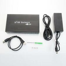"New 3.5"" IDE Aluminum HDD Hard Drive Enclosure USB 2.0  External Case US Ship"