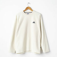 Vintage adidas Fleece Sweatshirt in Milky White Size D5 M Medium Pullover Top