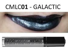 NYX Cosmic Metals Lip Cream 'GALACTIC' CMLC01 Dark Grey Silver Shimmer Gloss