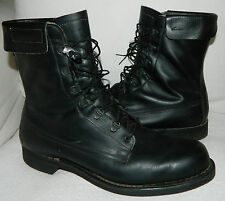 Addison VITETNAM WAR 1970s Military COMBAT BOOTS Sz 12 LEATHER Worn 1X! Biker  Z