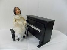 Byers Choice Carolers Girl with Piano & Stool Set