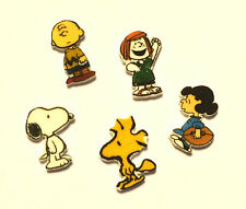 5 CHARLIE BROWN FLOATING LOCKET CHARMS SNOOPY PATTY WOODSTOCK LUCY
