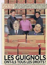 COUPURE DE PRESSE CLIPPING 1993 LES GUIGNOLS de CANAL+ (3 pages)
