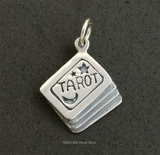 Tarot Cards Charm 19mm Sterling Silver Jewellery pagan witch wicca inc jump ring
