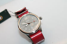 AVI-8 Flyboy Gents Watch  RED STRAP LEATHER  AUTHENTIC 4028