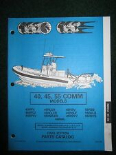 1994 OMC Johnson Evinrude Outboard Parts Catalog Manual 40 45 55 HP Commercial