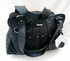 COWHIDE LEATHER COLOUR BLACK WITH STUDS BAG TOP SHOULDER STRAPS ++++  3732