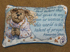 Boyds Bears Glory B. Angelfaith ~ Talent of Prayer Tapestry Word Pillow