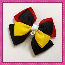 Handmade Large Queen Of Hearts Inspired Alice Hair Bow Clip Cosplay