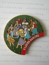 2000 Disney 9 LADIES DANCING 12 Days Of Christmas Pin Megara Ariel Esmeralda