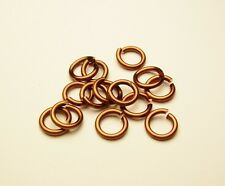 CHAIN MAILLE 18GA WIRE 5 MM OD 175 P 1/2 OZ NON TARNISH  ATQ.COPPER   JUMP RING