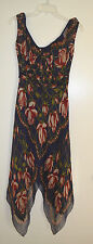 Extremely Rare Anthropologie Anna Sui Rose Scarf Silk Dress 4