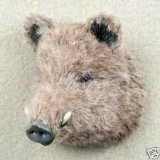 RAZOR BACK HOG! Collect Fur Refrigerator Magnets MINIATURE THROPHY:-)