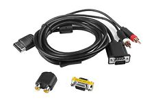 Hellfire Trading VGA HD RCA Cable Lead Scart for Sega Dreamcast + Two Adapters
