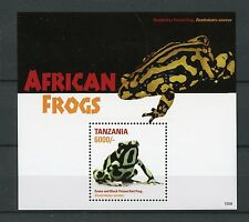 Tanzania 2015 MNH African Frogs 1v S/S II Poison Dart Frog Amphibians Stamps