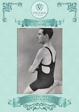 How to make a 1920s/30s mens swimming costume,swimsuit- repro knitting pattern