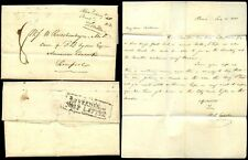 GB QV 1838 LIVERPOOL SHIP LETTER USA to RUSCHENBERGER SURGEON...JESSUP PAPER