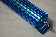 "22"" BLUE Anodized Single Pass Finned Transmission Cooler trans 700R4 4L60E C4 C6"