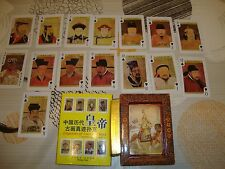 Jeu de 54 cartes chinois :emperors of ancient china.