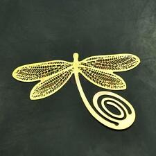 Dragonfly Golden Metal Clip Bookmark Stationary Book Mark Label Creative Gift