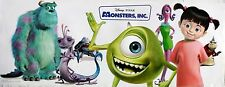 """DISNEY - PIXAR """"MONSTERS, INC."""" POSTER / BANNER - Characters By Sulley Waving"""