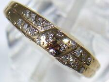Vintage 9ct Gold 20 Diamond Set Wedding or Dress Ring dated 1983 . U.K size J