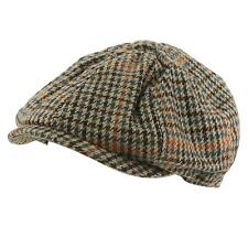 Men's Winter Houndstooth Plaid Newsboy Cabbie Gatsby Driver Cap Hat Gray M 57cm