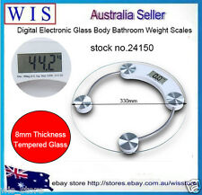 180Kg Personal Electronic Glass Body Bathroom Gym Weight Scales w Free Battery