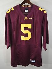 Minnesota Golden Gophers #5 Football Jersey MEDIUM Nike Maroon NCAA