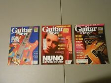 LT OF 3 1989/1991 GUITAR WORLD MAGAZINES,CARLTON,PIXIES,SUMMERS,NEW GEAR,MARLEY