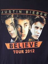Justin Bieber Believe Tour 2012 T Shirt Pop Idol The Beeb Concert Tour Small