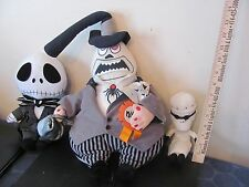 Tim Burton's Nightmare Before Christmas lot of 3 plush Mayor Finklestein Jack