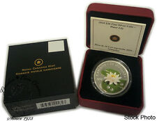 Canada 2010 $20 Water Lily Silver Coin