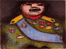 "Enrico BAJ ""Ritratto di Guerriero"", 1971 Acquaforte-acquatinta carborundum"