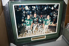 NEW YORK JETS SACK EXCHANGE SIGNED FRAMED 16X20 GASTINEAU, KLECKO, LYONS