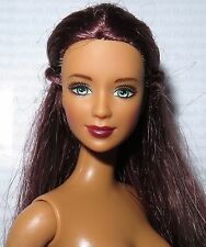 NUDE BARBIE ~ DEEP AUBURN GREEN EYES AMAZING KAYLA LEA MATTEL DOLL FOR OOAK