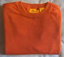 Mens Timberland Jumper Sweater Long Sleeve Crew Neck Small Orange New