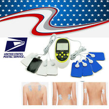 Digital Full Body Therapy Massager Machine Muscle Pain Relief Acupuncture 8 Pads