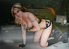 3D Lenticular Poster - Hot Sexy Military Girl - 10x14 Print - Risque