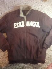 Mens Ecko unltd winter jacket coat xl Brown Thick Fleece Lined Ked
