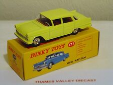 ATLAS EDITIONS DINKY TOYS, 177, OPEL KAPITAN, YELLOW, + CERT OF AUTH