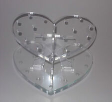 Cake Pop Stand - Clear Heart - Holds up to 17 Cake Pops / Lollipops