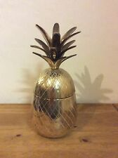 RETRO 60s COCKTAIL BAR BRASS PINEAPPLE ICE BUCKET VINTAGE COCKTAIL BAR ACCESSORY