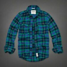 NWT Abercrombie Fitch Mens Flannel plaid Lake Harris Shirt $68 New  L Large