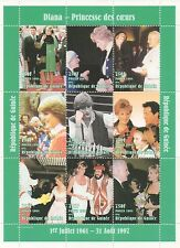 PRINCESS DIANA SLY STALLONE STEVE MARTIN THE POPE 1998 MNH STAMP SHEETLET