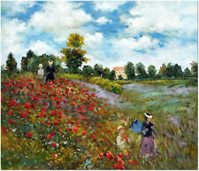 Poppies at Argenteuil - Claude Monet Artist Hand Painted Oil Painting On Canvas