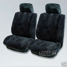 2x LAMBSWOOL Seat cover​cable GF4 MERCEDES W202, W210, W211, W212, W140