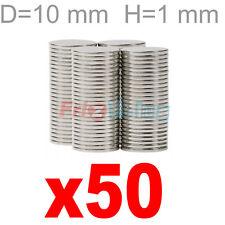 50 MAGNETI NEODIMIO 10X1 MM SUPER CALAMITA MAGNETE CALAMITE CERAMICA  FIMO