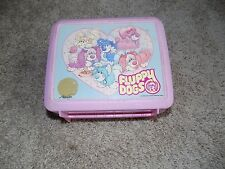 Vintage Plastic Lunch box With Thermos Fluppy Dogs